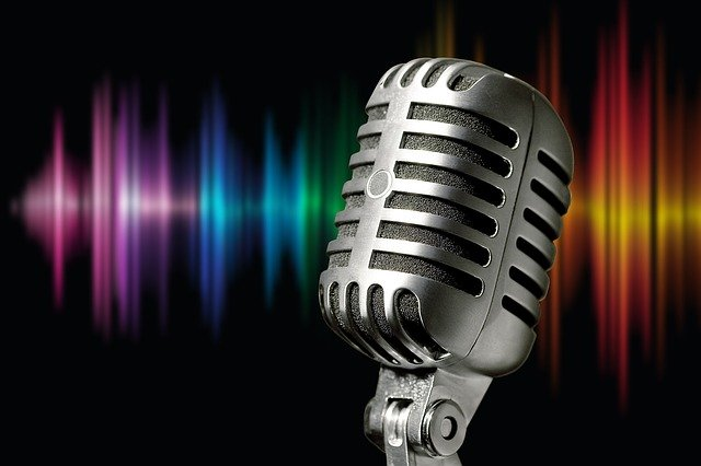 Microphone the voice